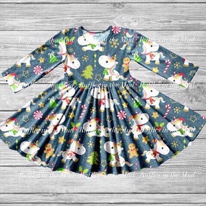 Baby Unicorn's Christmas Twirly Dress • PREORDER CLOSES SUNDAY, SEPT. 22