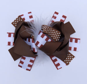 "5"" • Football Loop Hair Bow"