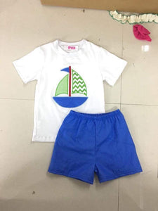 Chevron Sailboat Shorts Set • PREORDER CLOSES SATURDAY, APRIL 21