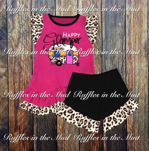 Happy Glamper Leopard Print Ruffle Shorts Set • PREORDER CLOSES SUNDAY, FEB. 24