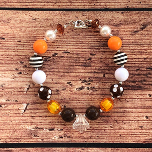 Colors of Fall Chunky Bead Necklace
