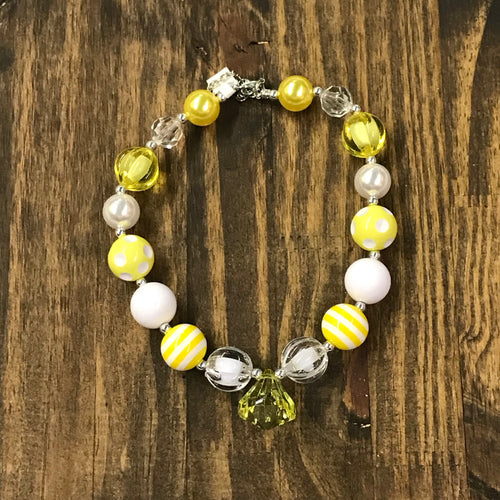 Ray of Sunshine Chunky Bead Necklace