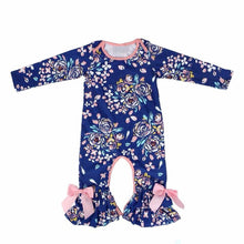12/18m • Navy Floral Ruffle Romper