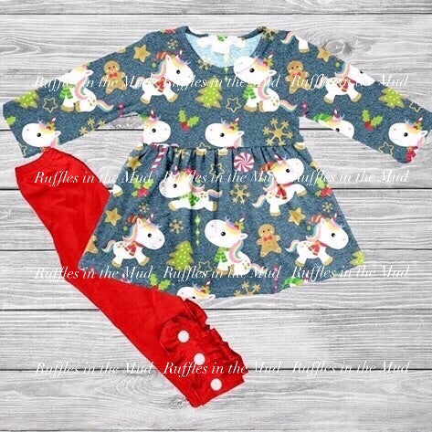 Baby Unicorn's Christmas Pants Set • PREORDER CLOSES SUNDAY, SEPT. 22