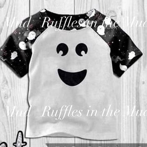 Happy Little Ghost Raglan • PREORDER CLOSES FRIDAY, JUNE 14