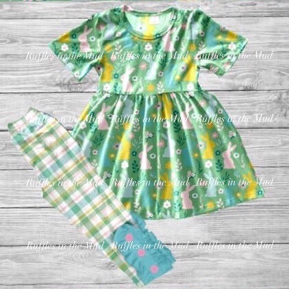 Green Plaid Bunny Pants Set • PREORDER CLOSES SUNDAY, DEC. 15