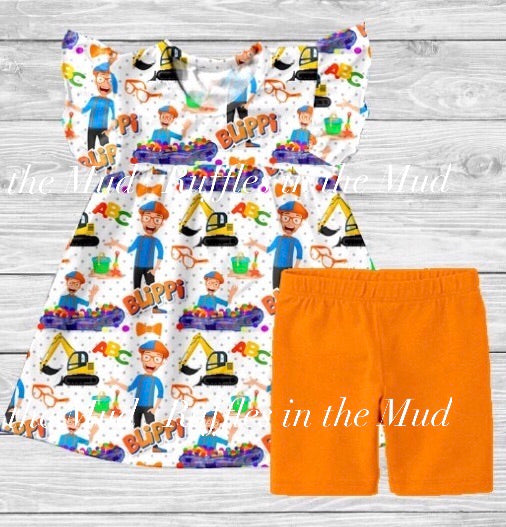 Blippi Shorts Set • PREORDER CLOSES MONDAY, MAY 27 @ 6pm!