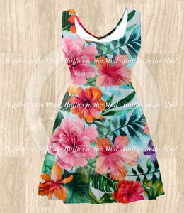 XL • ADULT • Tropical Island Hibiscus Dress