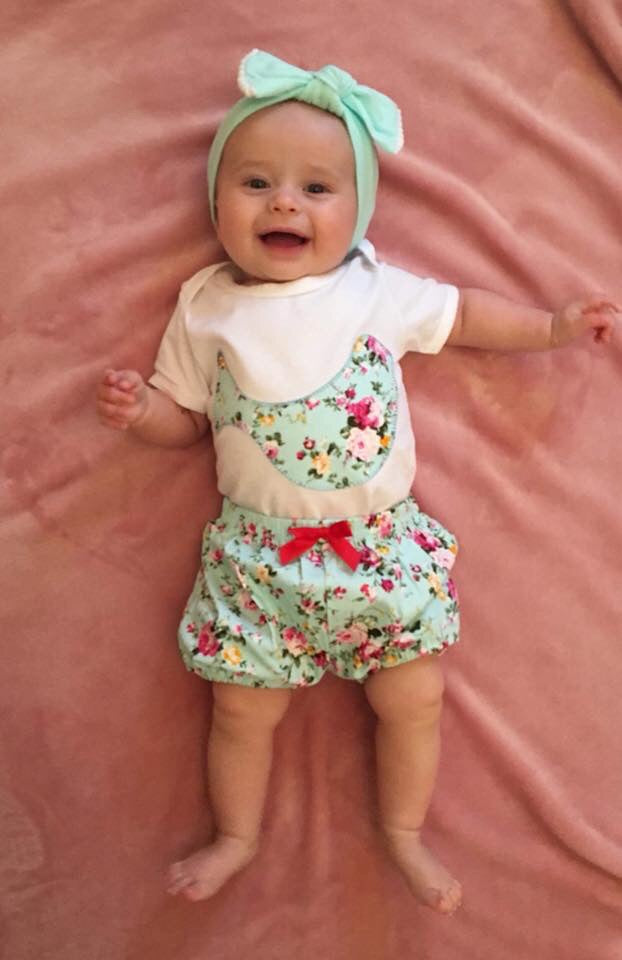 Baby Bird Floral Onesie & Shorts Set