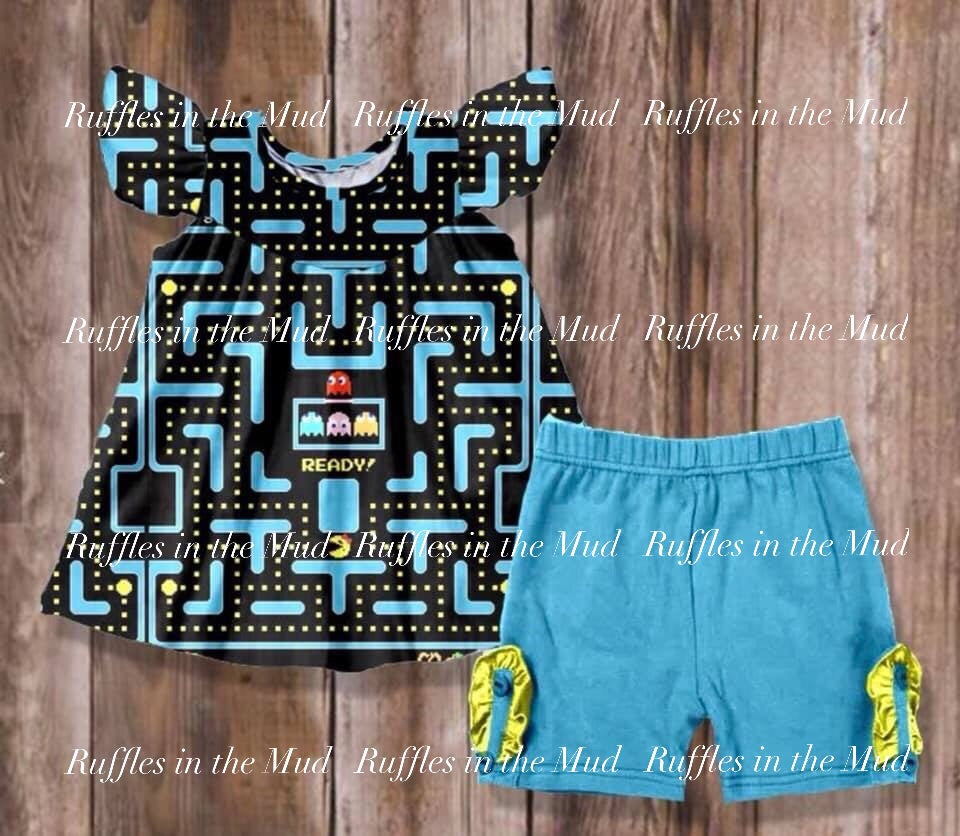 Pac-Man Shorts Set • PREORDER CLOSES WEDNESDAY, MARCH 27