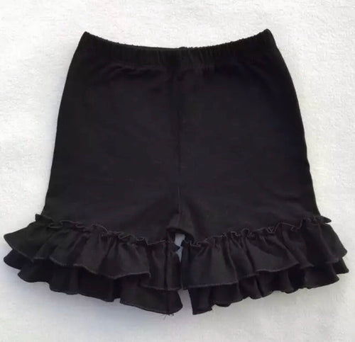 12/18m, 2T, 5/6, 8/9 • Black Double Ruffle Shorts 💜 Big Sister