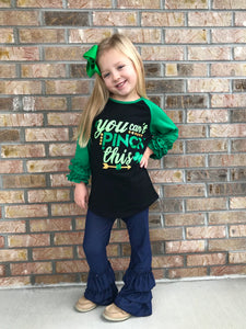 2T • You Can't Pinch This Ruffle Raglan