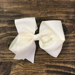 Ivory Cream Hair Bow • 4-6""