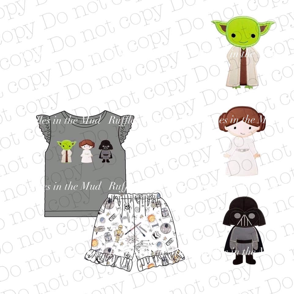 Girl's Star Wars Applique Shorts Set • PREORDER CLOSES TUESDAY, FEB. 11