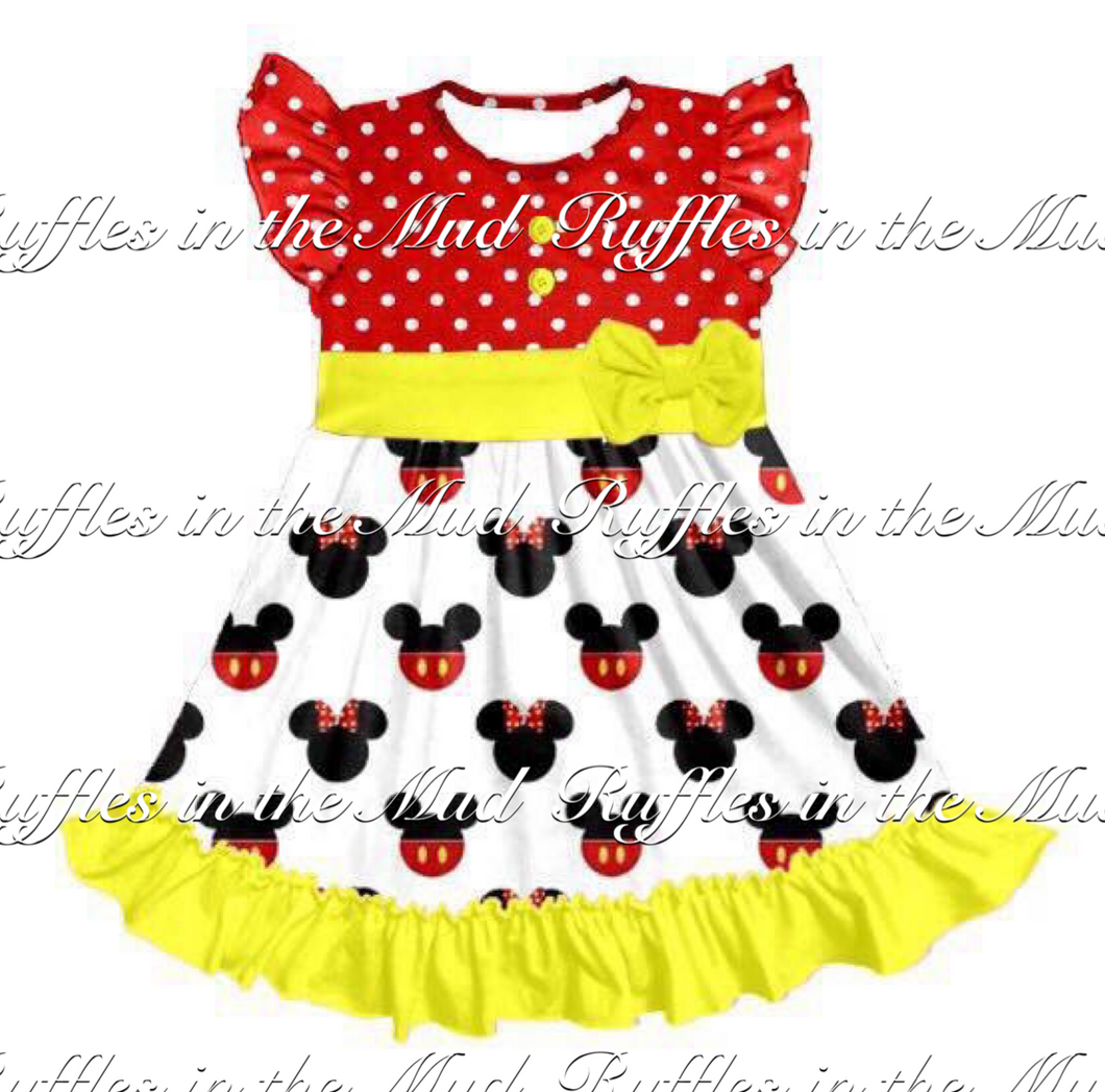 Red and Yellow Mickey & Minnie Dress • PREORDER CLOSES SATURDAY, MARCH 10