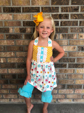 4T, 7/8 • Little Hen Halter Top & Shorts Set