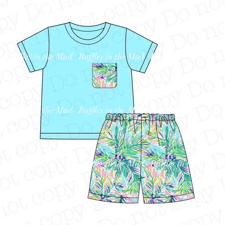 Lily Inspired Palm Tree Pocket Shorts Set • PREORDER CLOSES FRIDAY, APRIL 3