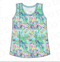 L, XL • ADULT • Lily Inspired Palm Trees Tank