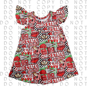 4T, 5/6 • Ohio State Pearl Dress