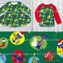 Pete The Cat Christmas Raglan • PREORDER CLOSES THURSDAY, AUG. 22