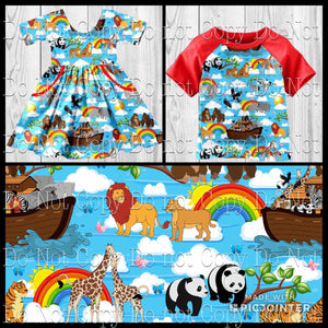 5/6 • Noah's Ark Twirly Dress