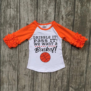 Little Sister Sizes • Basketball Ruffle Raglan • PREORDER CLOSES SATURDAY, JULY 14