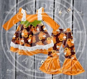 Pumpkin Harvest Bell Pants Set • PREORDER CLOSES FRIDAY, JULY 12