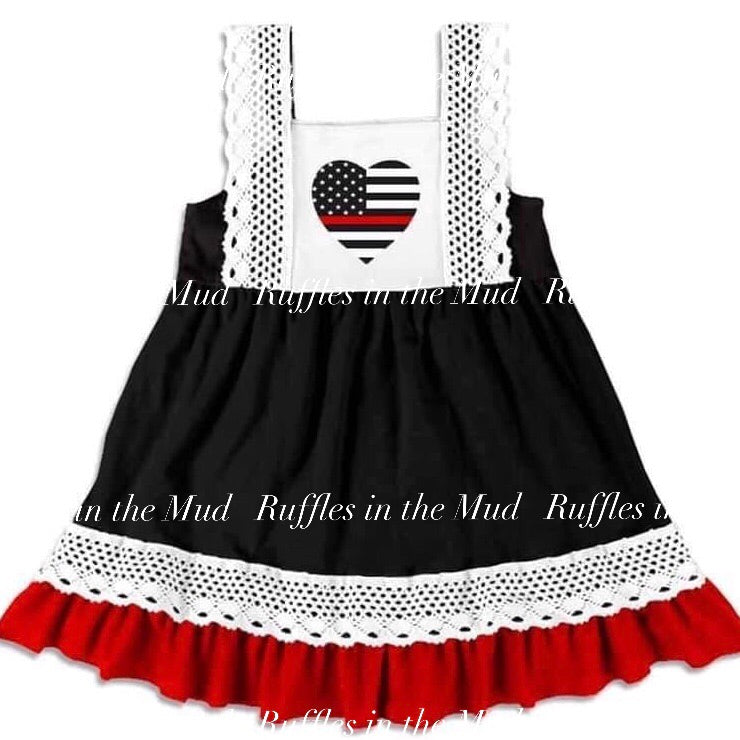 Thin Red Line Dress • PREORDER CLOSES SATURDAY, JULY 13