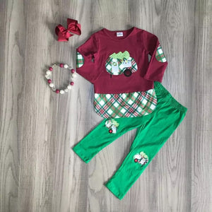 Maroon Plaid Christmas Camper Pants Set • PREORDER CLOSES TUESDAY, DEC. 3 @ 9pm