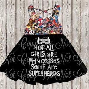 Some Are Superheroes Quote Strappy Dress • PREORDER CLOSES FRIDAY, FEB. 7