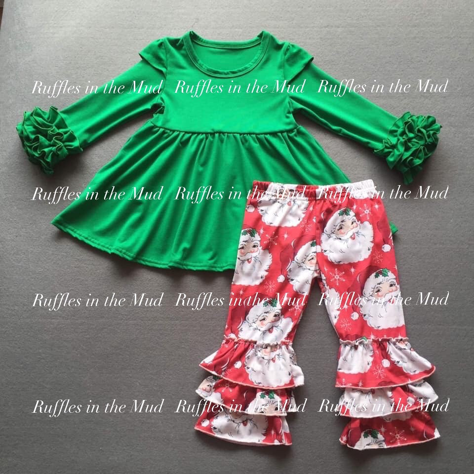 Jolly Old St. Nick Ruffle Pants Set • PREORDER CLOSES THURSDAY, AUG 1