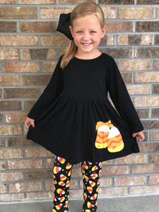 6 • Candy Corn Leggings Set
