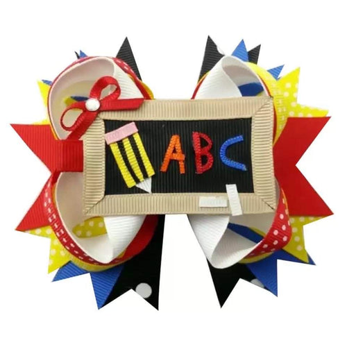 "5"" • Chalkboard ABC Loop Hair Bow"