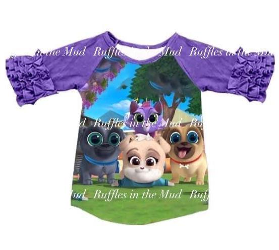 Pup Pup Pup Puppy Dog Pals Ruffle Raglan • PREORDER CLOSES THURSDAY, APRIL 16