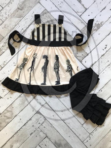 5/6 • Tim Burton Dress & Pants Set