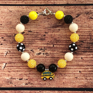 School Bus Chunky Bead Necklace