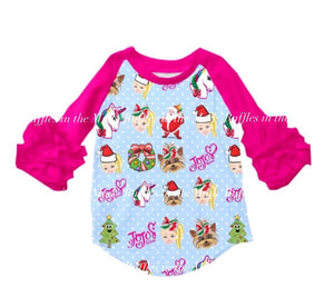 Jojo's Christmas Ruffle Raglan • PREORDER CLOSES SUNDAY, OCT. 13