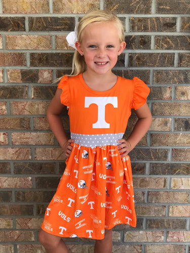 2T-7/8 • Tennessee Collegiate Dress