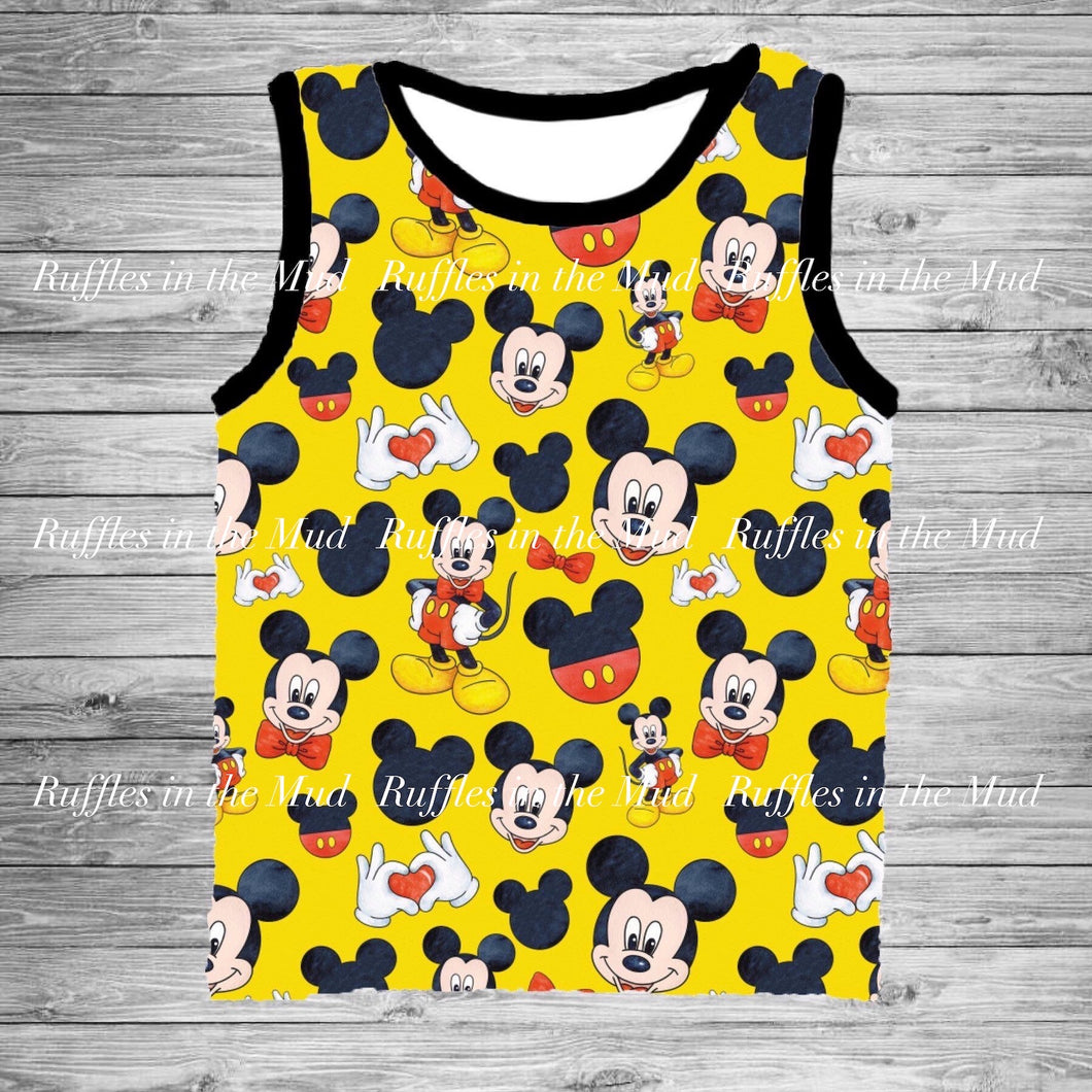 Yellow All About Mickey Tank • PREORDER CLOSES SUNDAY, MAY 10