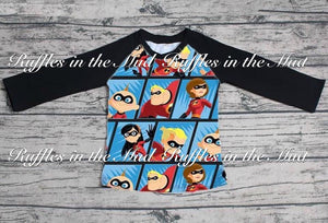 The Incredibles Raglan • PREORDER CLOSES WEDNESDAY, JULY 11 @ 6pm!