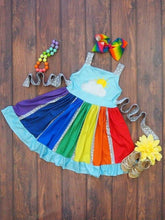 4T, 5/6, 6/7 • Over the Rainbow Panel Dress