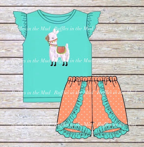 Fuzzy Little Llama Upscale Boutique Shorts Set • PREORDER CLOSES WEDNESDAY, FEB. 26