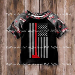 Thin Red Line Truck Raglan • PREORDER CLOSES FRIDAY, DEC. 13
