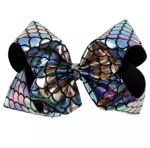 "7"" • Metallic Mermaid Bow"