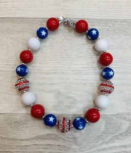 Stars & Stripes Chunky Bead Necklace