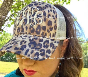 Monogrammed • CC Brand Leopard Trucker Hat • PREORDER CLOSES THURSDAY, APRIL 16 @10am!