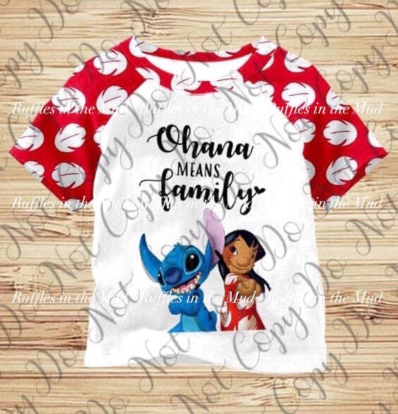 Red Ohana Raglan • PREORDER CLOSES SUNDAY, MAY 31
