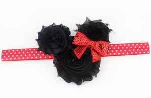 "3"" • Minnie Rosette Polka Dot Headband"