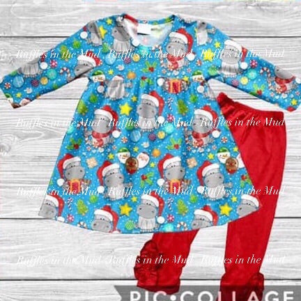Hippopotamus for Christmas Pants Set • PREORDER CLOSES FRIDAY, SEPT. 6