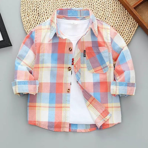 2T, 6/7 •  Blue & Red Plaid Button Down Shirt